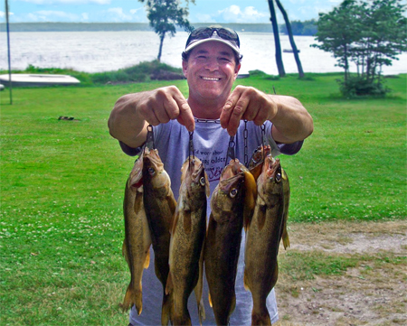 Sherman's Resort places you in great walleye territory.  Walleye fishing on South Manistique Lake is a sought after past time that all ages will definitely enjoy.