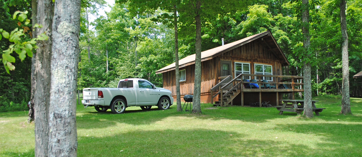 Sherman 39 s resort cabin rentals campground south for Fishing cabins in michigan
