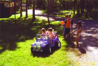 Kids love the campgrounds and playing throughout the property!